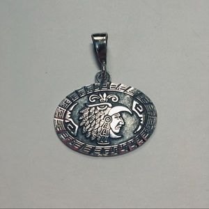 Mexican Sterling Silver Aztec Pendant